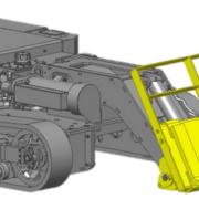 Movex Track-O Option Gabelstapler Anbaugerät für Minidozer
