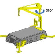 Movex Track-O Option tragbarer Auslegerkran 121,92 cm 225 kg