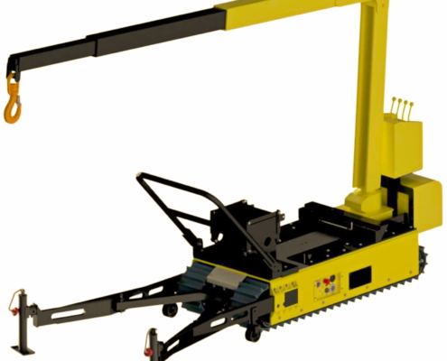 Track-O Mini Crawler Crane M7 on Track-O Twin-Track 66