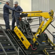Track-O Mini Crawler Crane M7 on Track-O Twin-Track 66