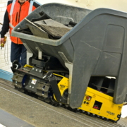 Track-O Greengo lifting system with Waste Container