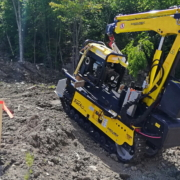 Track-O Mini Crawler Crane M7 on Track-O Cross-Country