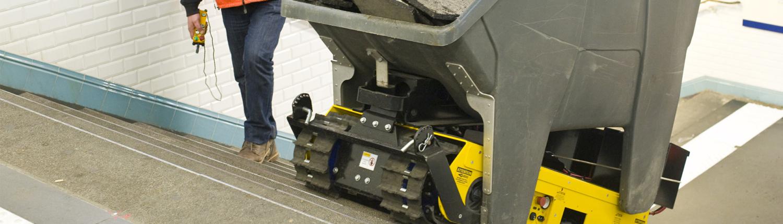 Track-O Greengo - Hydraulische Hebevorrichtung mit Müllcontainer