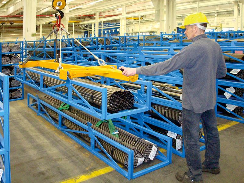 Long Material Pallet, steel bar store, alternative to yoke store