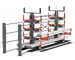 Long material storage - Bartels Roll-Out Rack