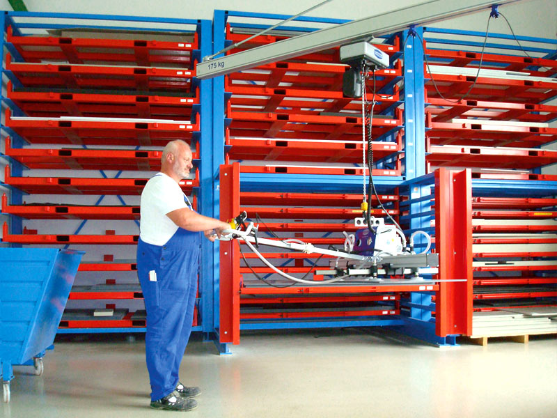 Centrally Storing Plate Material The Flat Pallet Magazine