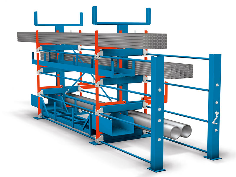 Video(s)  sc 1 st  Karl H. Bartels GmbH & Roll-Out Rack - Extractable cantilever shelves for long goods