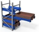 Bartels pole mounted pallet racking drawers
